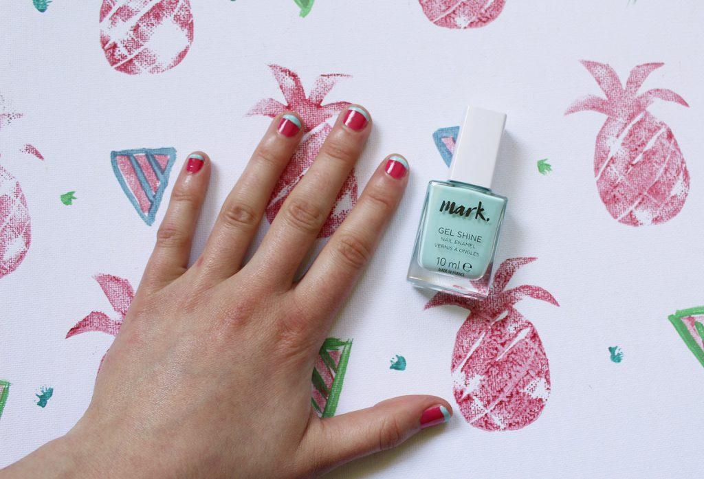 letters beads-beauty-nailart-wassermelone-nagellack-watermelon-summer-nails-nagelspitze-mintgrün