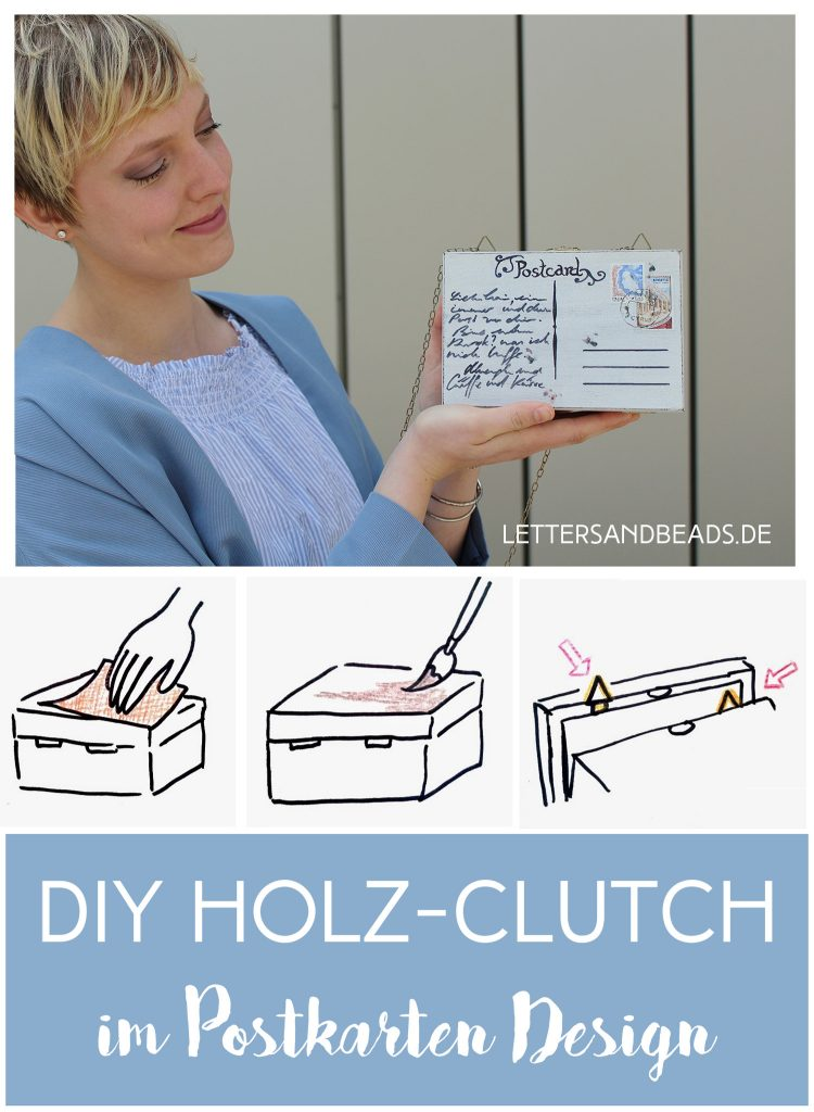 letters beads-fashion-diy-holz-clutch im postkarten design-finish